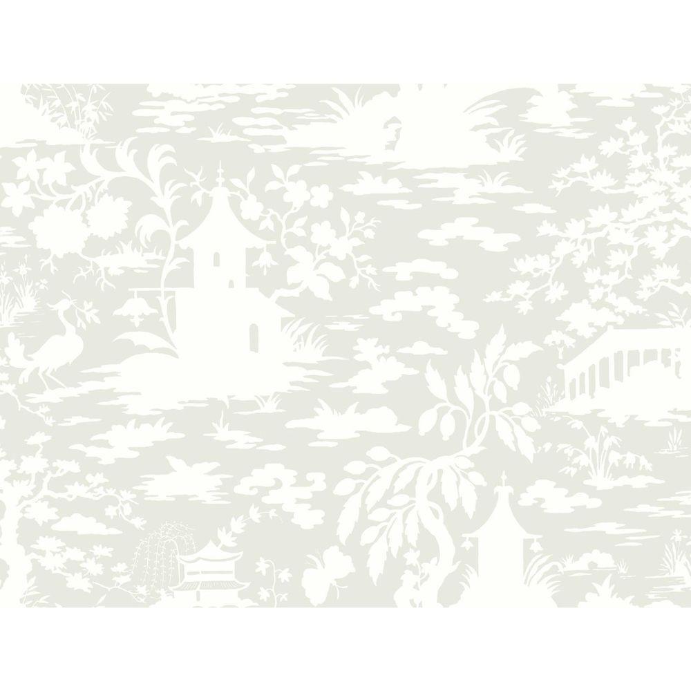 Black and White Asian Scenic Wallpaper