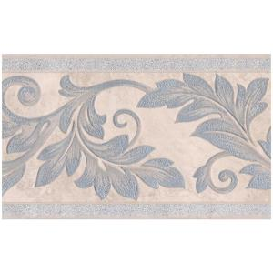 Home Depot Wallpaper Borders.Silver Sparkling Damask Vines On Beige Abstract Prepasted Wallpaper Border