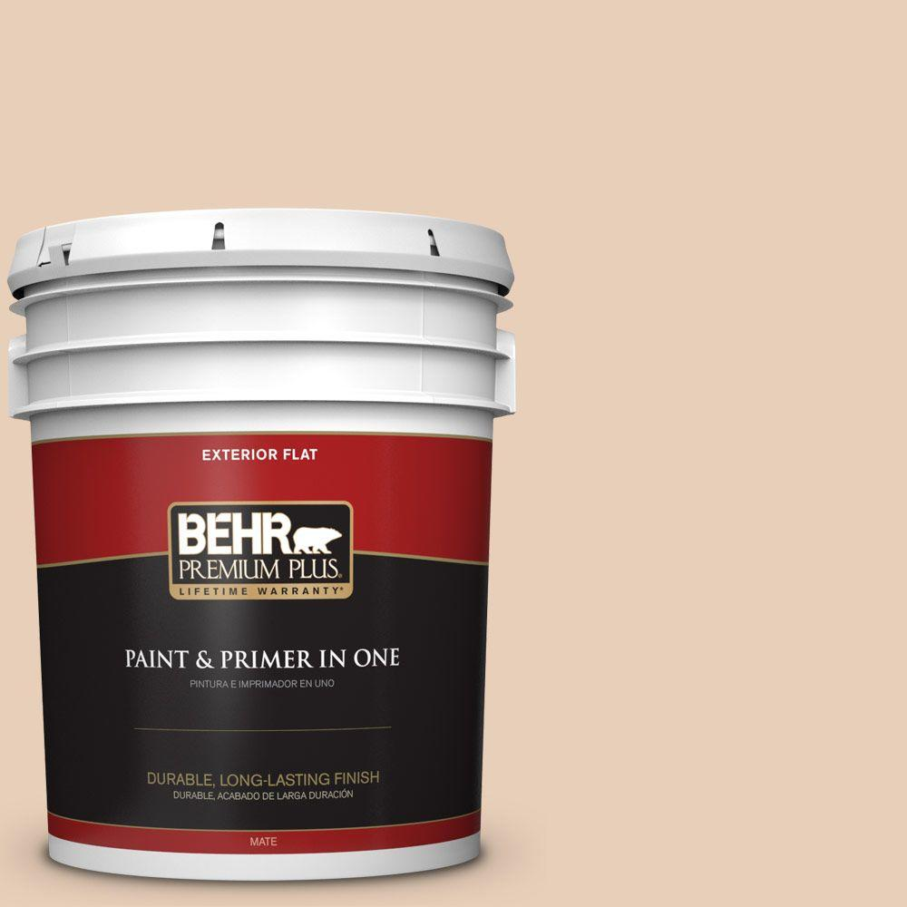 BEHR Premium Plus 5-gal. #S230-1 Buff Tone Flat Exterior Paint