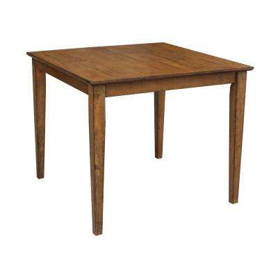 Dining Essentials Distressed Pecan Dining Table