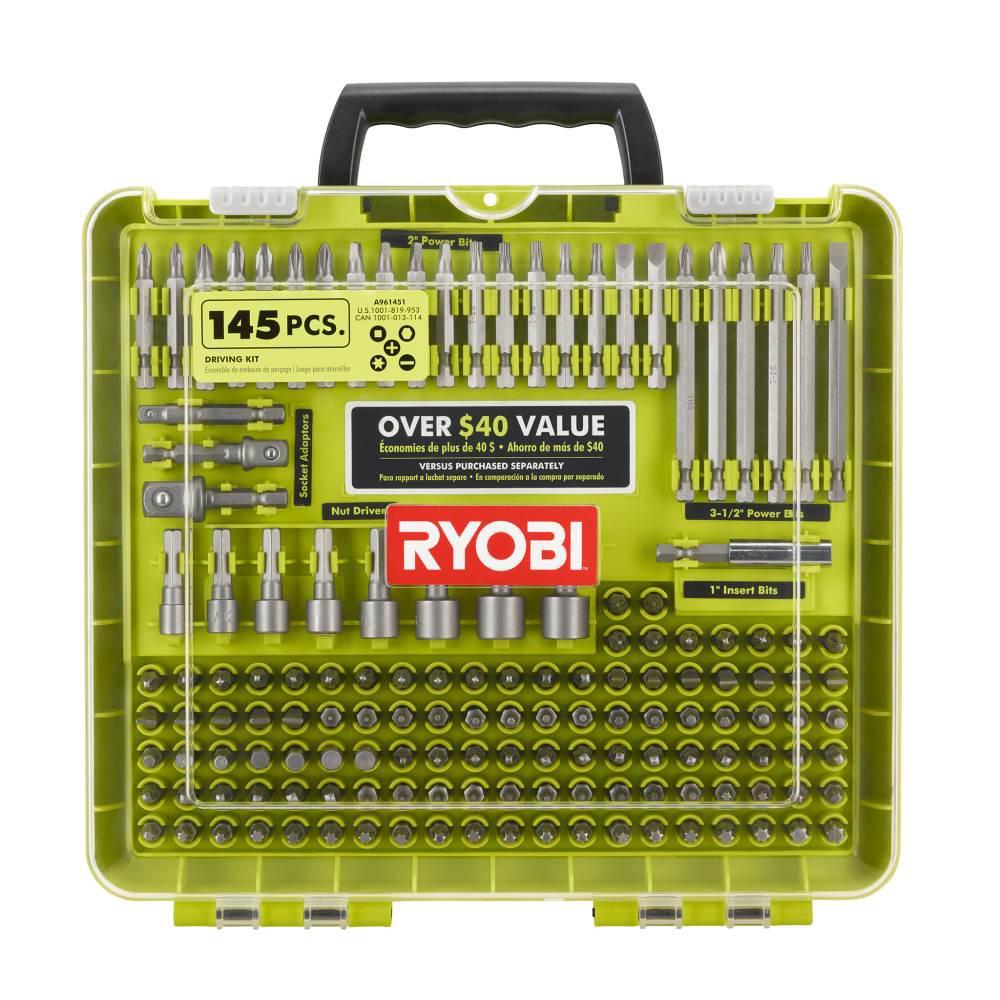 145-Pc Ryobi Driving Kit