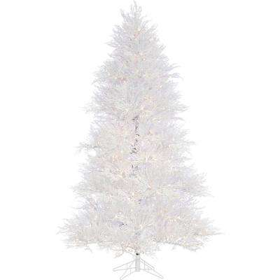 7.5 ft. Snowy Alpine Artificial Christmas Tree with Smart String Lighting