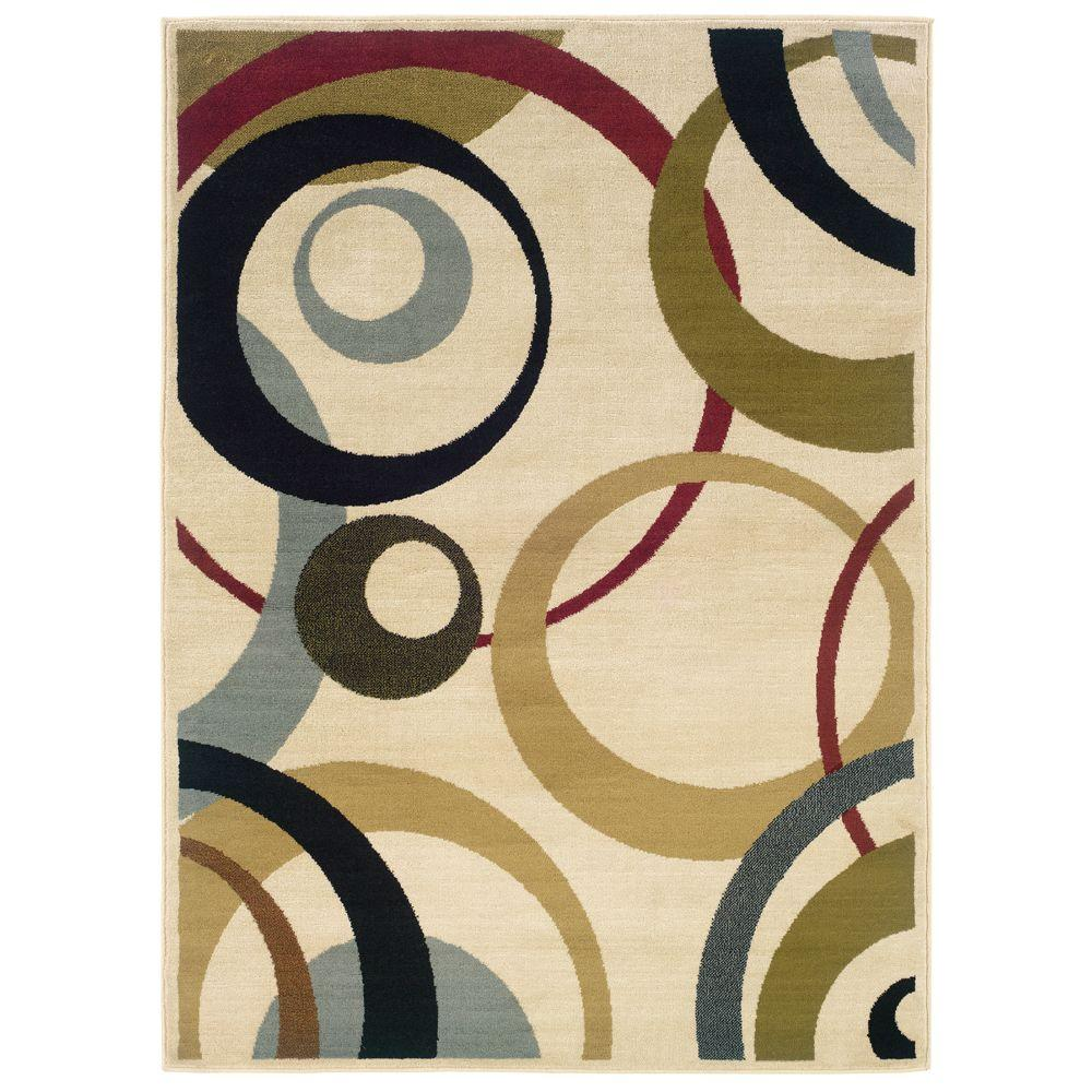 Oriental Weavers Evanston Saturn Ivory 7 ft. 10 in. x 10 ft. Area Rug