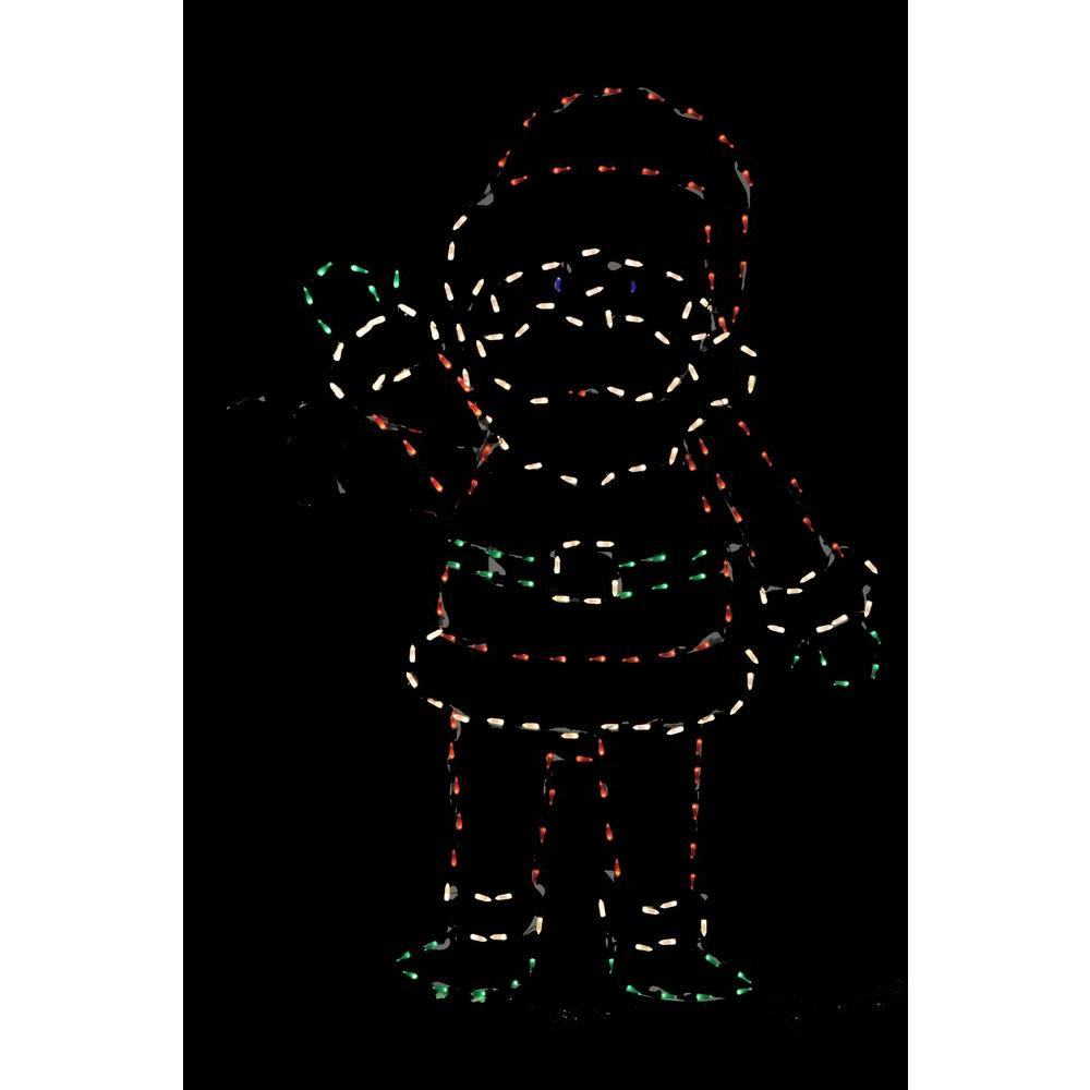 72 in. Pro-Line LED Wire Decor Waving Santa