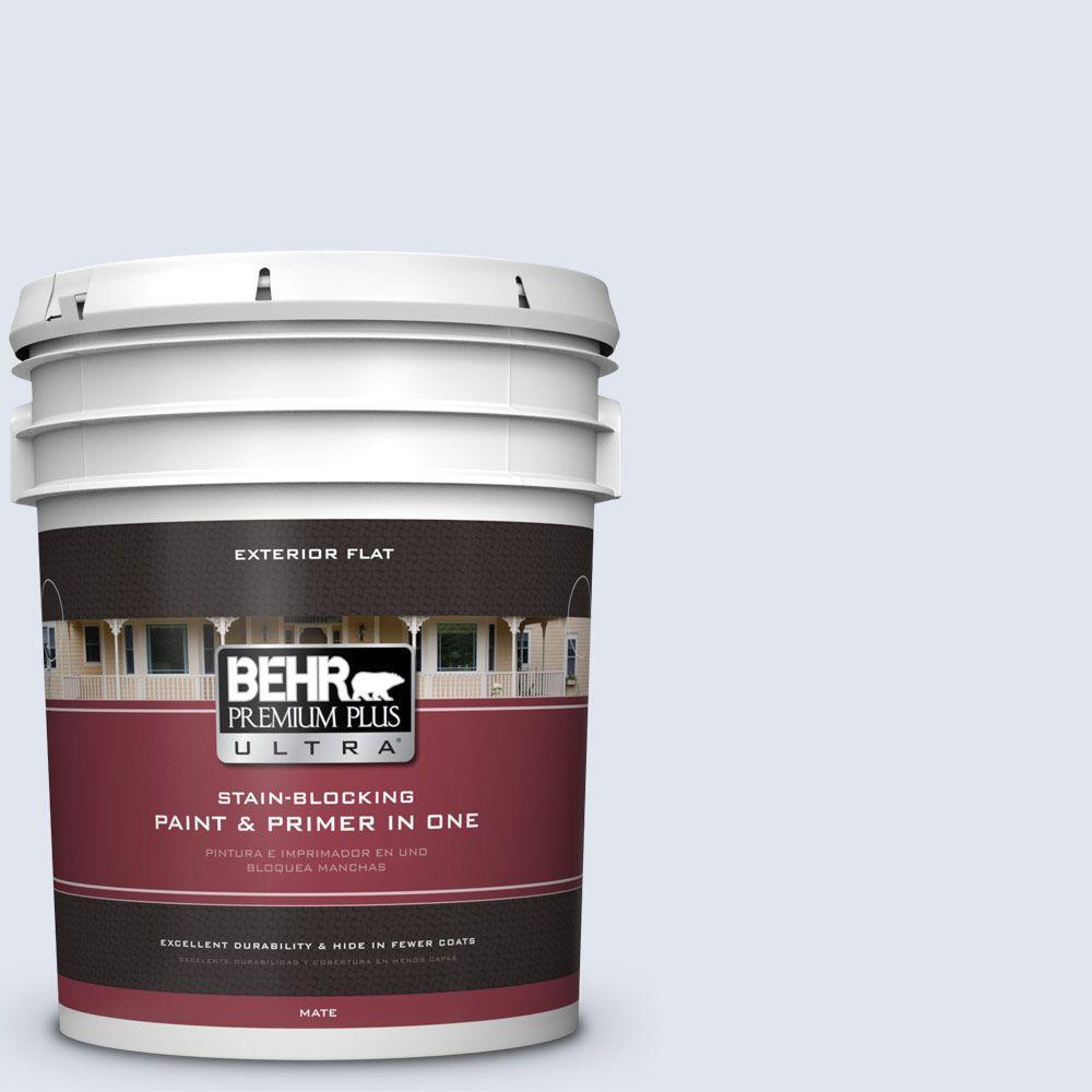BEHR Premium Plus Ultra 5-gal. #590E-1 Lavender Ice Flat Exterior Paint