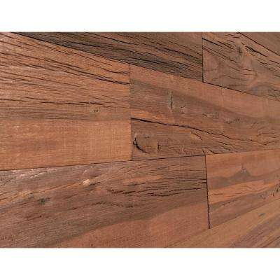 1/4 in. x 5 in. x 2 ft. Brown Reclaimed Easy Paneling 3D Barn Wood Wall Plank (Design 6) (12 – Case)