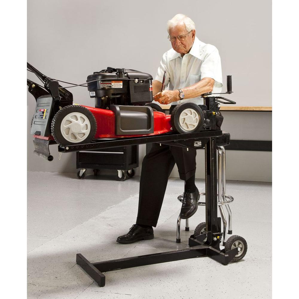 mower lawn mojack workbench lift riding push attachment maintenance surface lifts ramps jacks