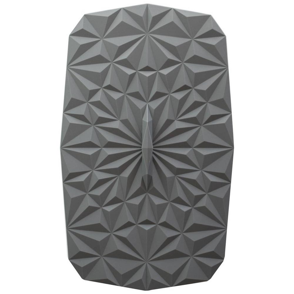 Rectangular Suction 9x6 Silicone Lid in Gray