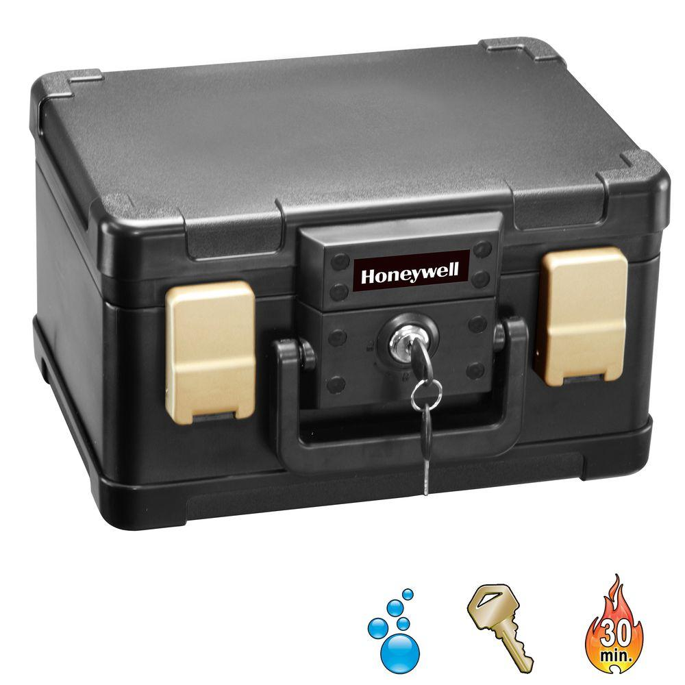 Honeywell 0.15 cu. ft. Molded Fire/Water Chest with Key a...