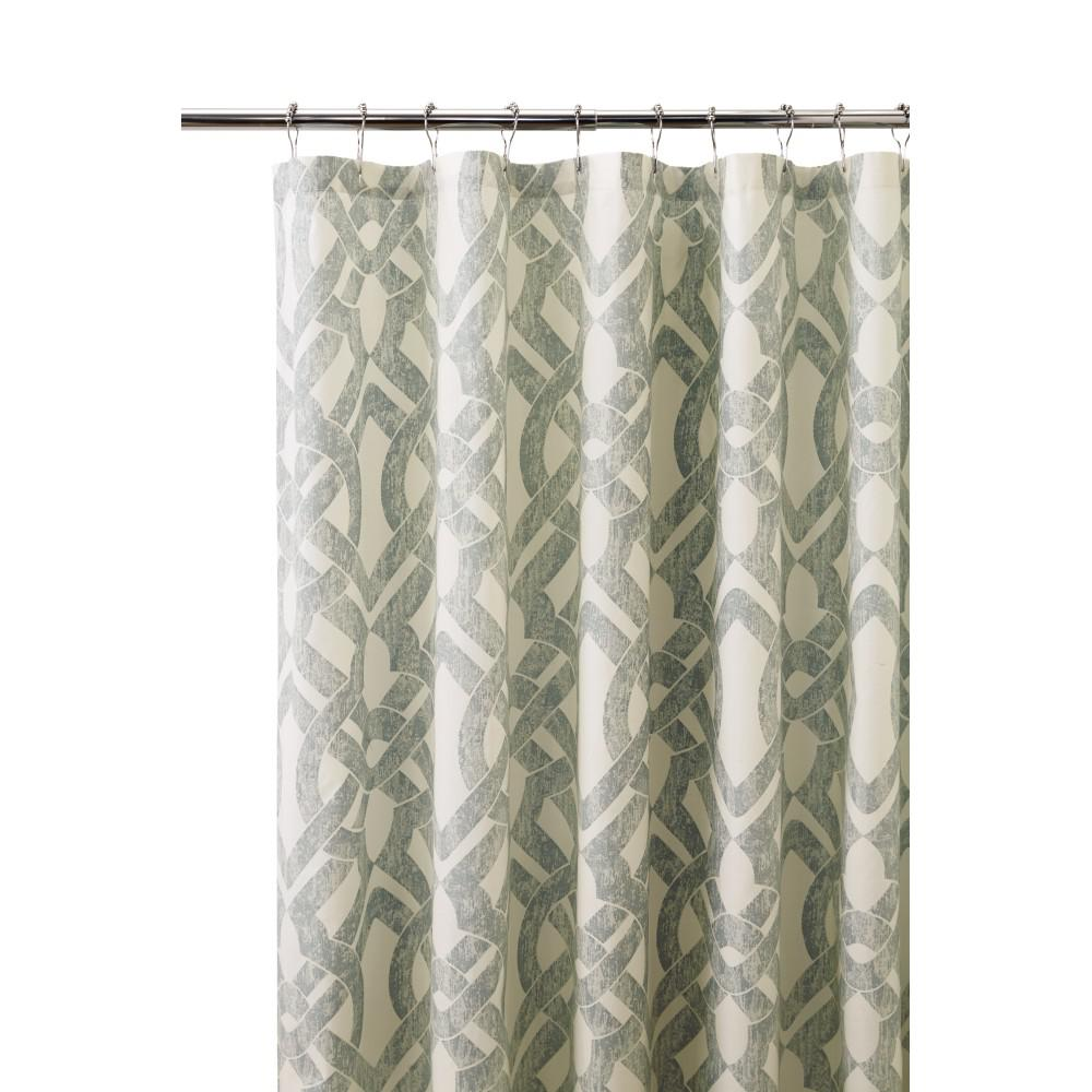 Home Decorators Collection Waveland 72 In L Green And Blue Shower Curtain Green Blue Shop