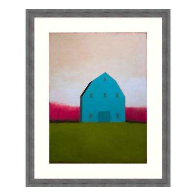 """Turquoise Barn"" by Tracy Helgeson Framed Wall Art"