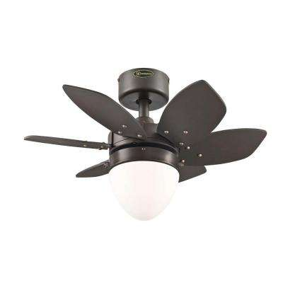 Origami 24 in. Indoor Espresso Ceiling Fan