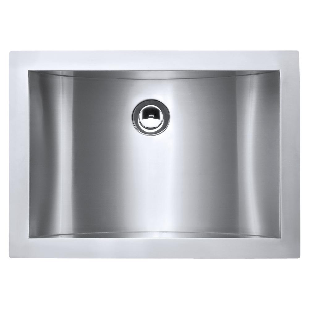 Ruvati 21 in. Undermount 18-Gauge Stainless Steel Bathroom Sink ...