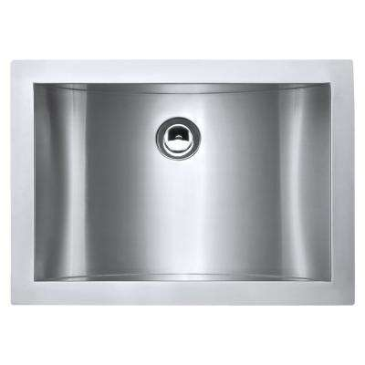 21 in. Undermount 18-Gauge Stainless Steel Bathroom Sink