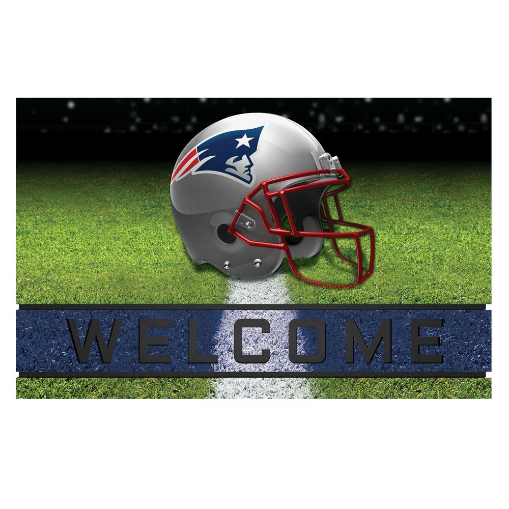 FANMATS NFL   New England Patriots 18 In. X 30 In. Rubber Door Mat