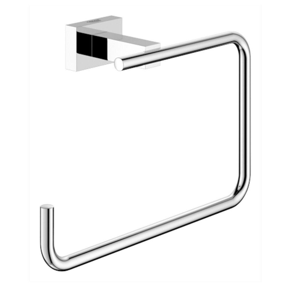 Essentials Cube Towel Ring in StarLight Chrome
