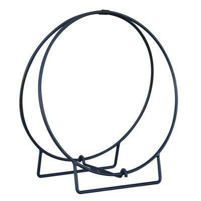24 in. Black Log Hoop with 1/2 in. Solid Stock