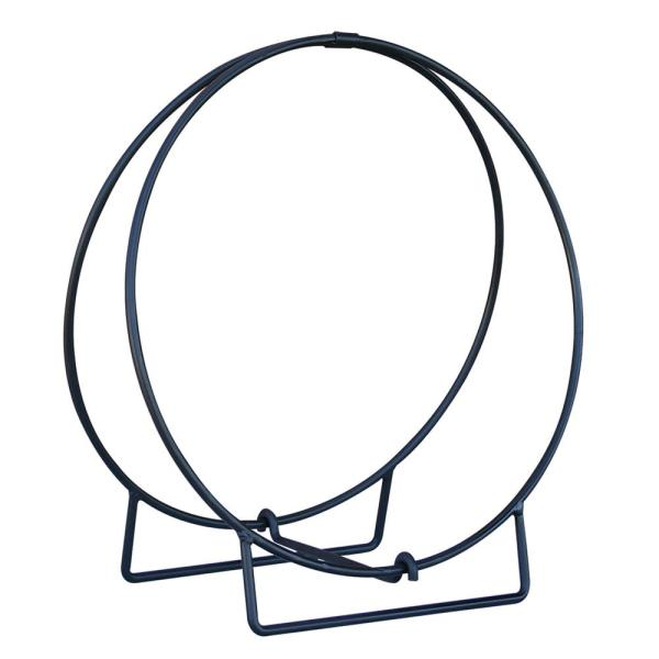 24 in. Diameter Black Log Hoop with 1/2 in. Solid Stock Steel Frame