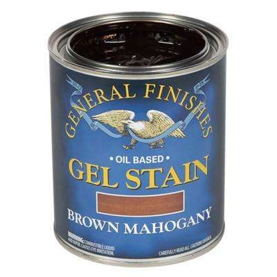 1-qt. Brown Mahogany Oil-Based Interior Wood Gel Stain