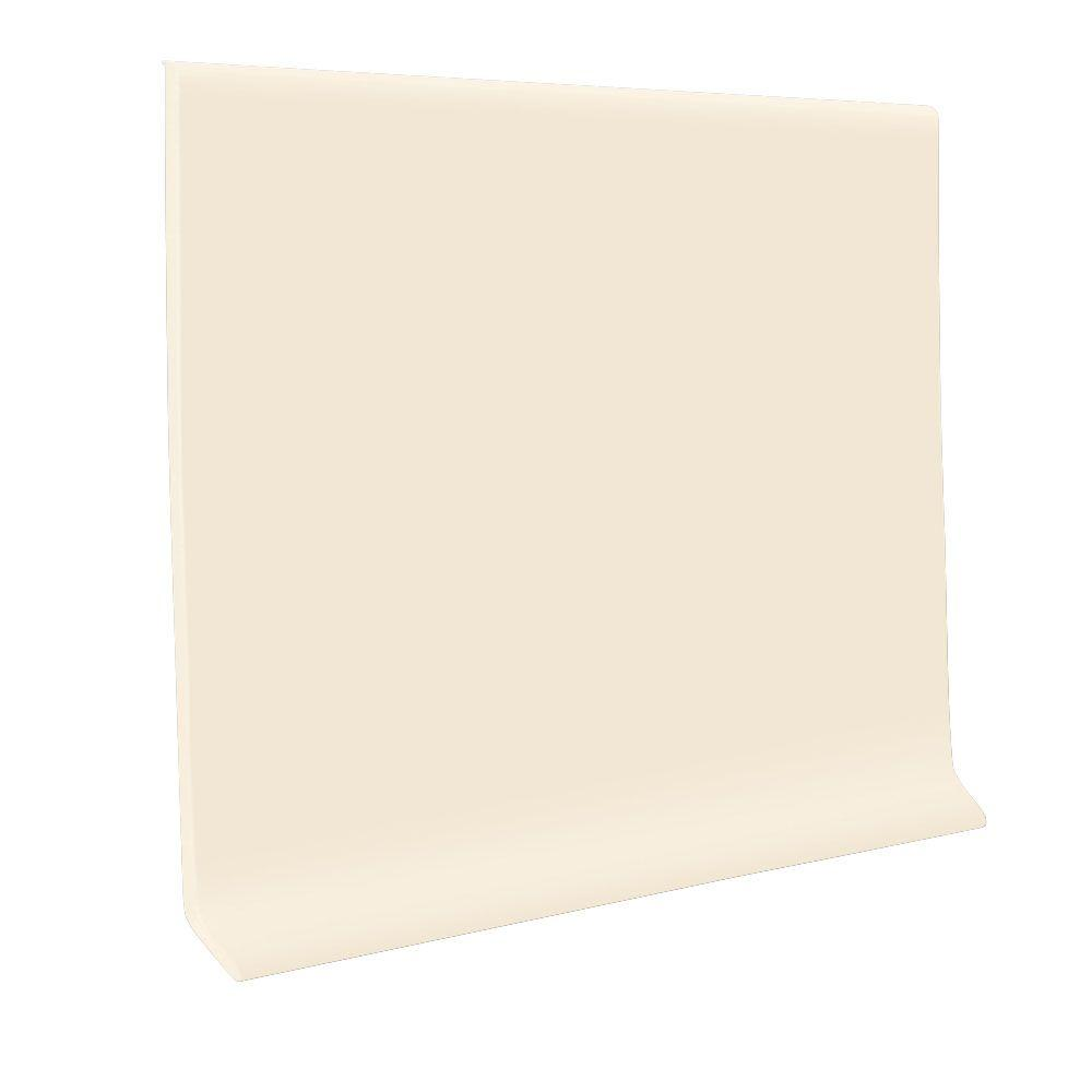 Bisque 4 in. x 48 in. x 0.080 in. Vinyl Wall