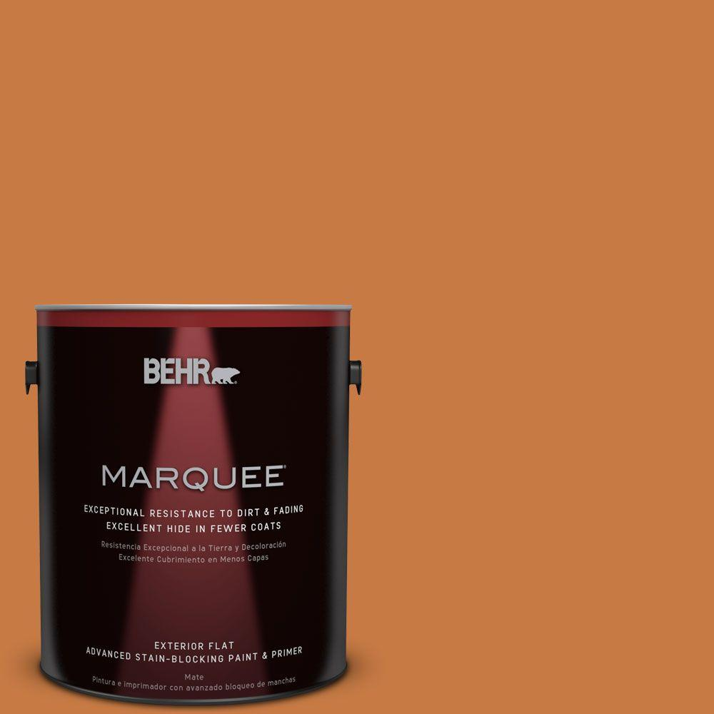 1-gal. #M230-7 Rumba Orange Flat Exterior Paint