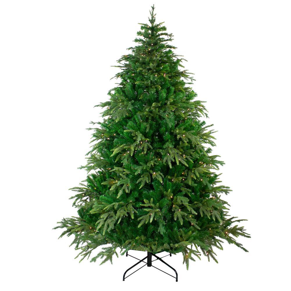 6.5 ft. Pre-Lit Roosevelt Fir Artificial Christmas Tree - Warm White LED Lights
