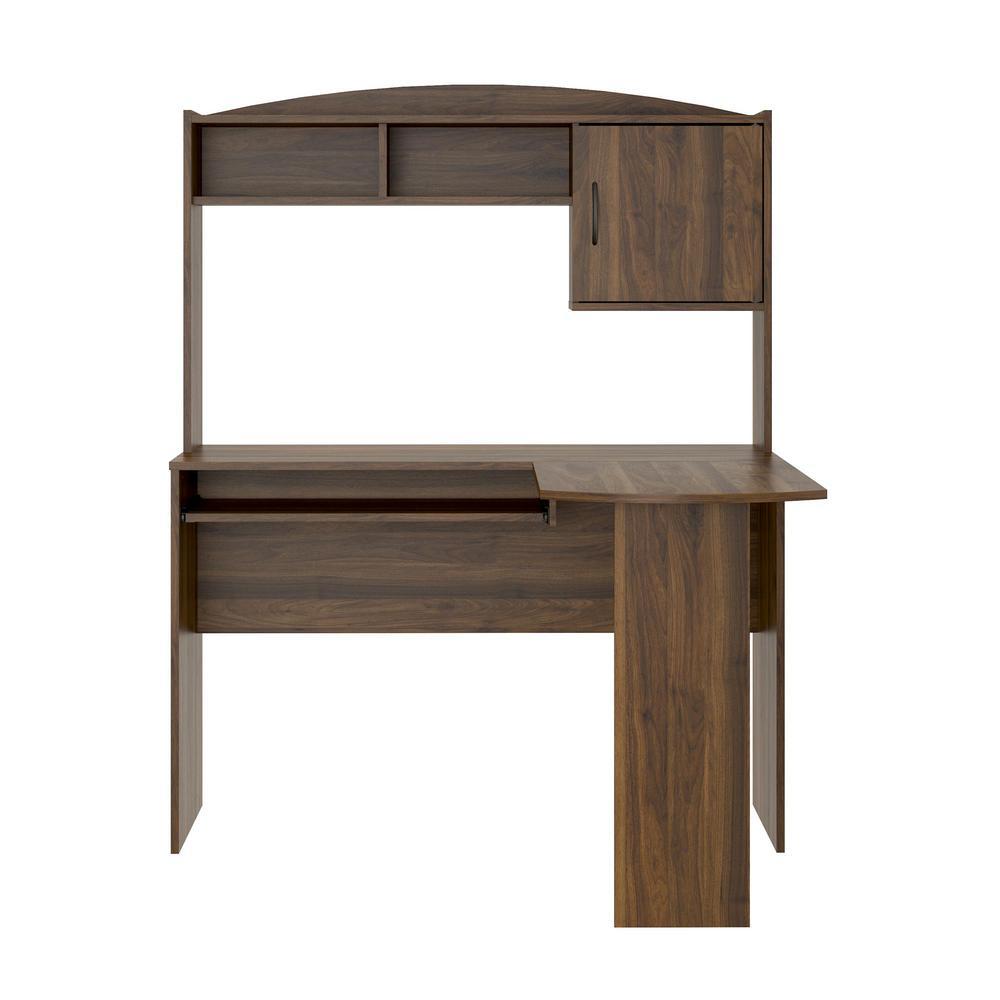 Ameriwood L Shaped Walnut Desk With Hutch