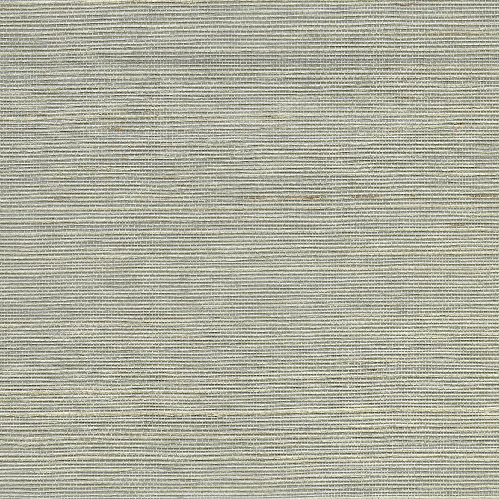 8 In X 10 In Lucena Grey Grass Cloth Wallpaper Sample