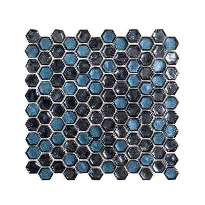 Mermaid Lagoon 10-7/8 in. x 11-3/8 in. x 6 mm Glass Mosaic Tile