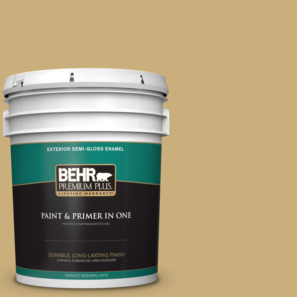 5 gal. #PPU6-16 Cup of Tea Semi-Gloss Enamel Exterior Paint
