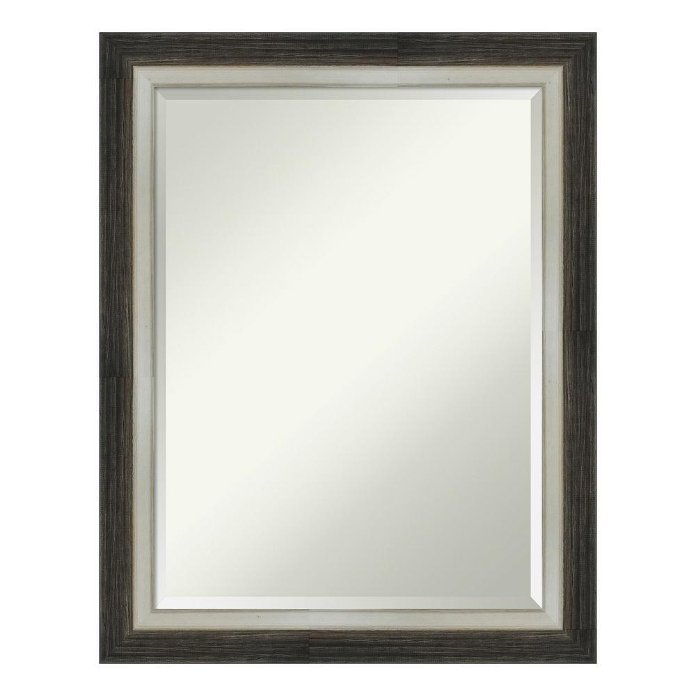 Amanti Art Brushed Metallic Wood Brown Bathroom Vanity Mirror DSW4093103
