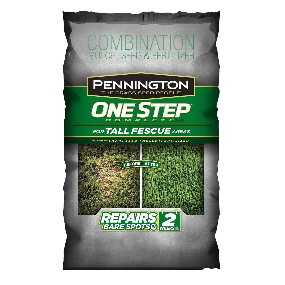 One Step Complete For Tall Fescue With Smart Seed Mulch