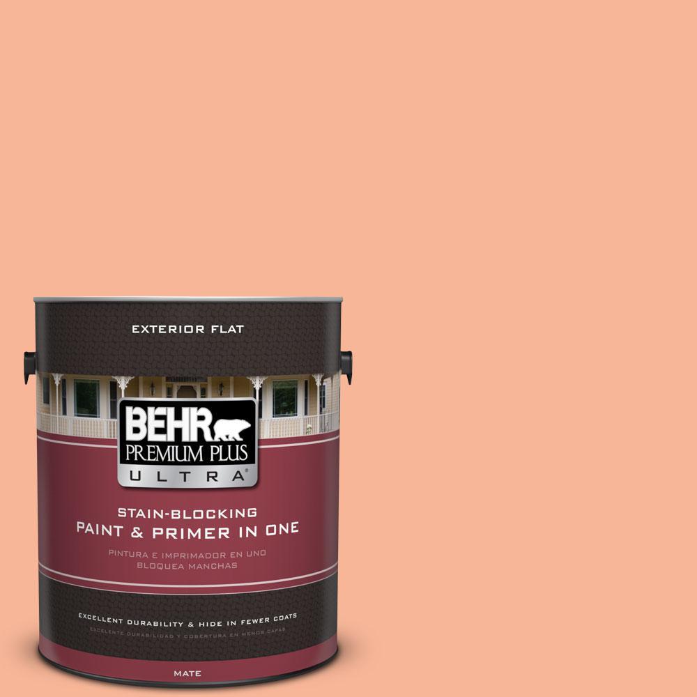 BEHR Premium Plus Ultra 1-gal. #P190-3 Melon Sorbet Flat Exterior Paint