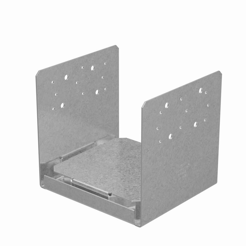 ABU 8 in. x 8 in. ZMAX Galvanized Adjustable Post Base
