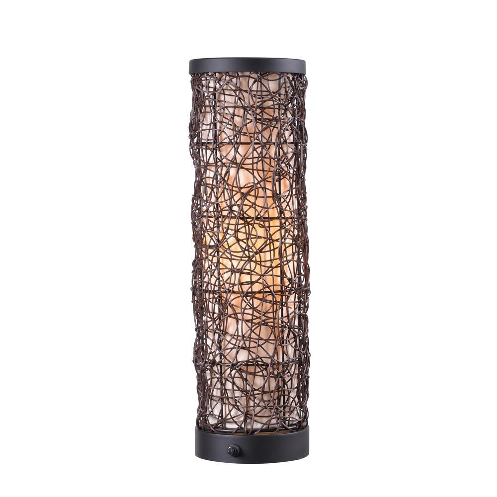 Tanglewood 22.1 in. Bronze Outdoor Table Lamp