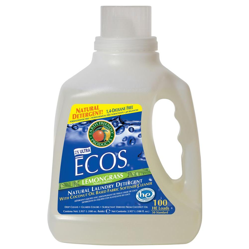 Earth Friendly Products 100 oz. Lemongrass Scented Liquid Laundry Detergent