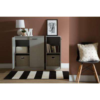 Axess Soft Gray Storage Cabinet
