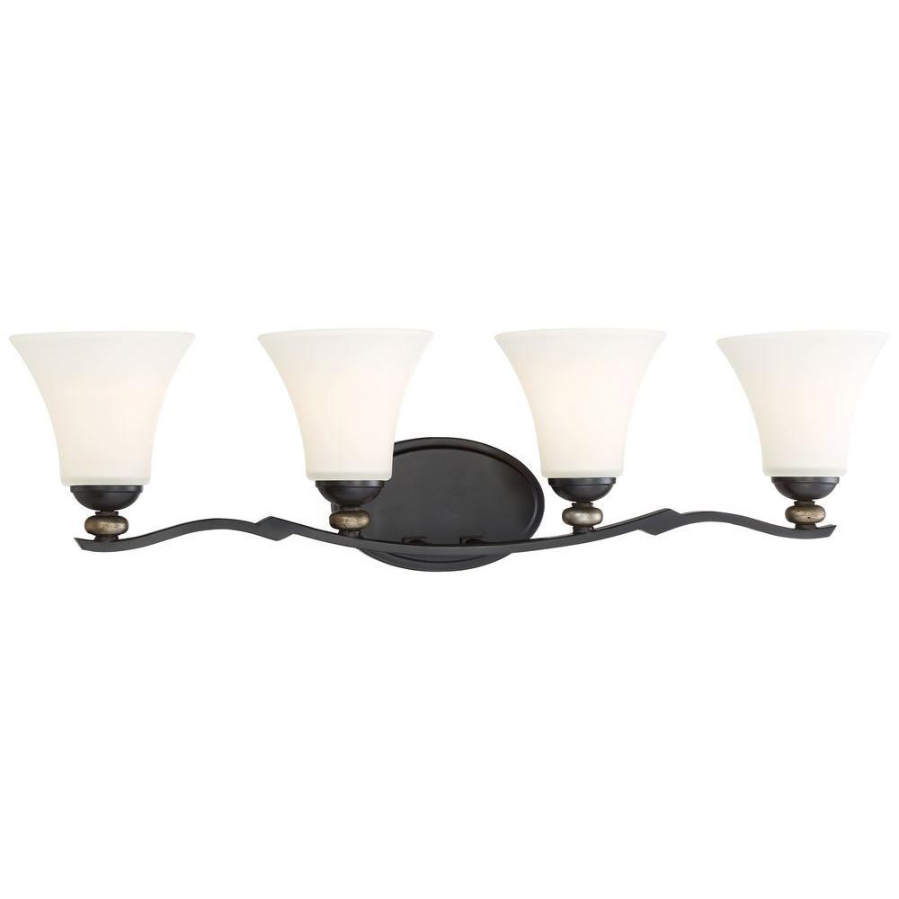 Shadowglen 4-Light Lathan Bronze Bath Light