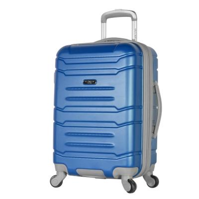 Denmark 21 in. Navy Expandable Carry-On Spinner with Hidden Compartment