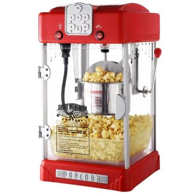 Pop Pup 2.5 oz. Red Countertop Popcorn Machine with Measuring Spoon