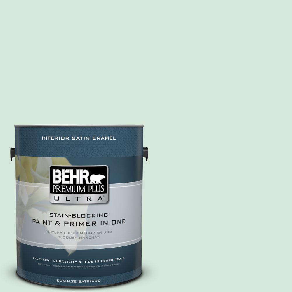 1-gal. #M410-1 Jade Mist Satin Enamel Interior Paint