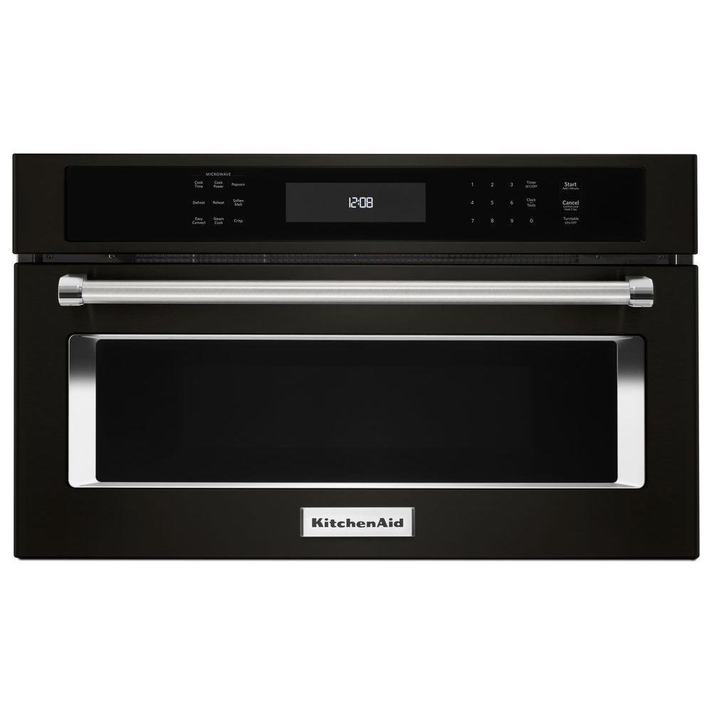 Kitchenaid 1 4 Cu Ft Built In Microwave Black Stainless
