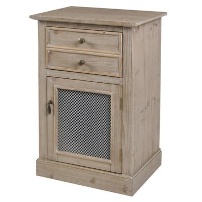 Light Pine 1-Drawer and Door Wood Cabinet
