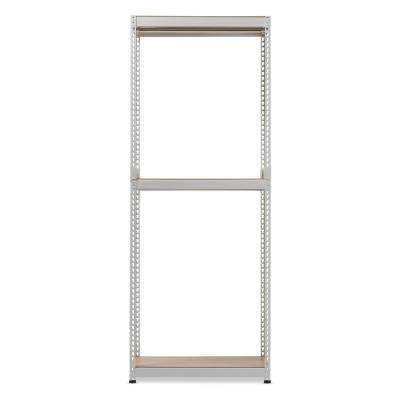 Gavin White Metal 3-Shelf Closet Storage Racking Organizer