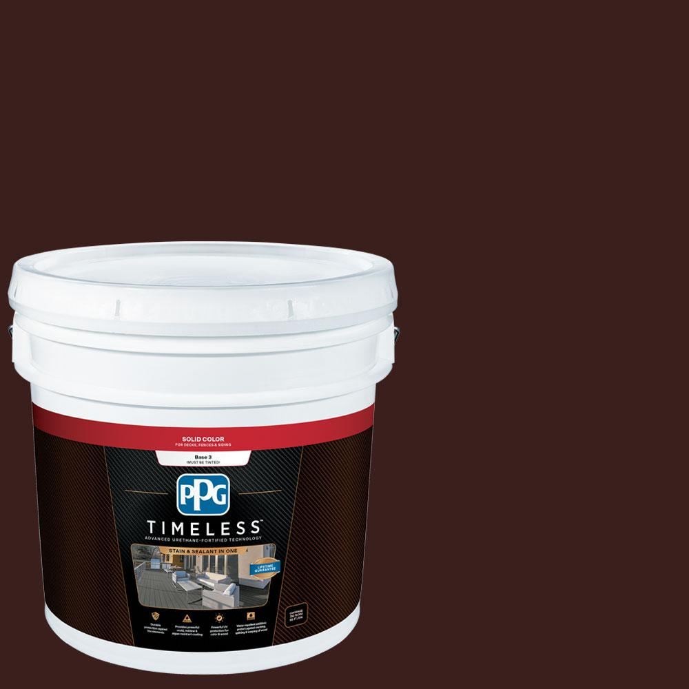 PPG TIMELESS 3 gal. TSC-10 Mahogany Solid Color Exterior Wood Stain