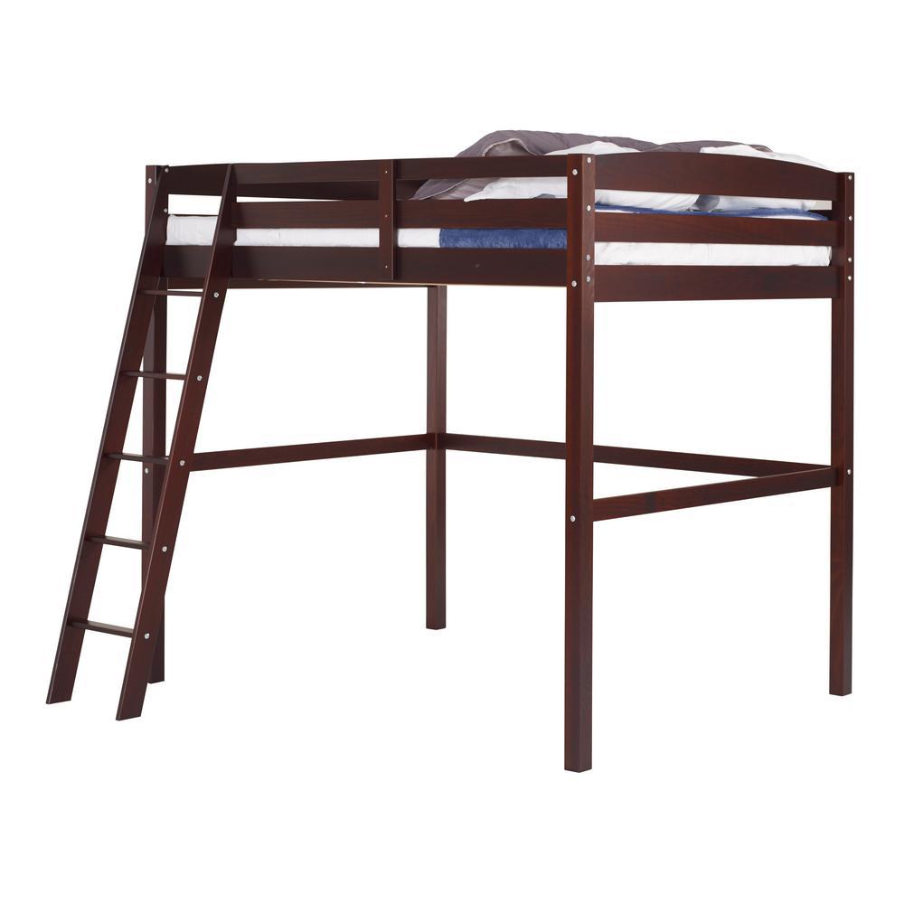 Concord Cappuccino Twin Size High Loft Bed