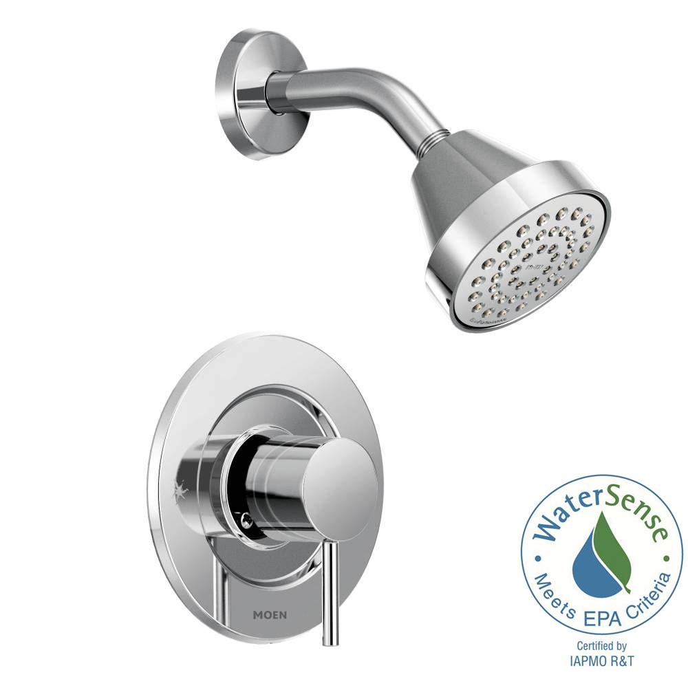 MOEN Align Single-Handle Posi-Temp Shower Faucet Trim Kit in Chrome ...