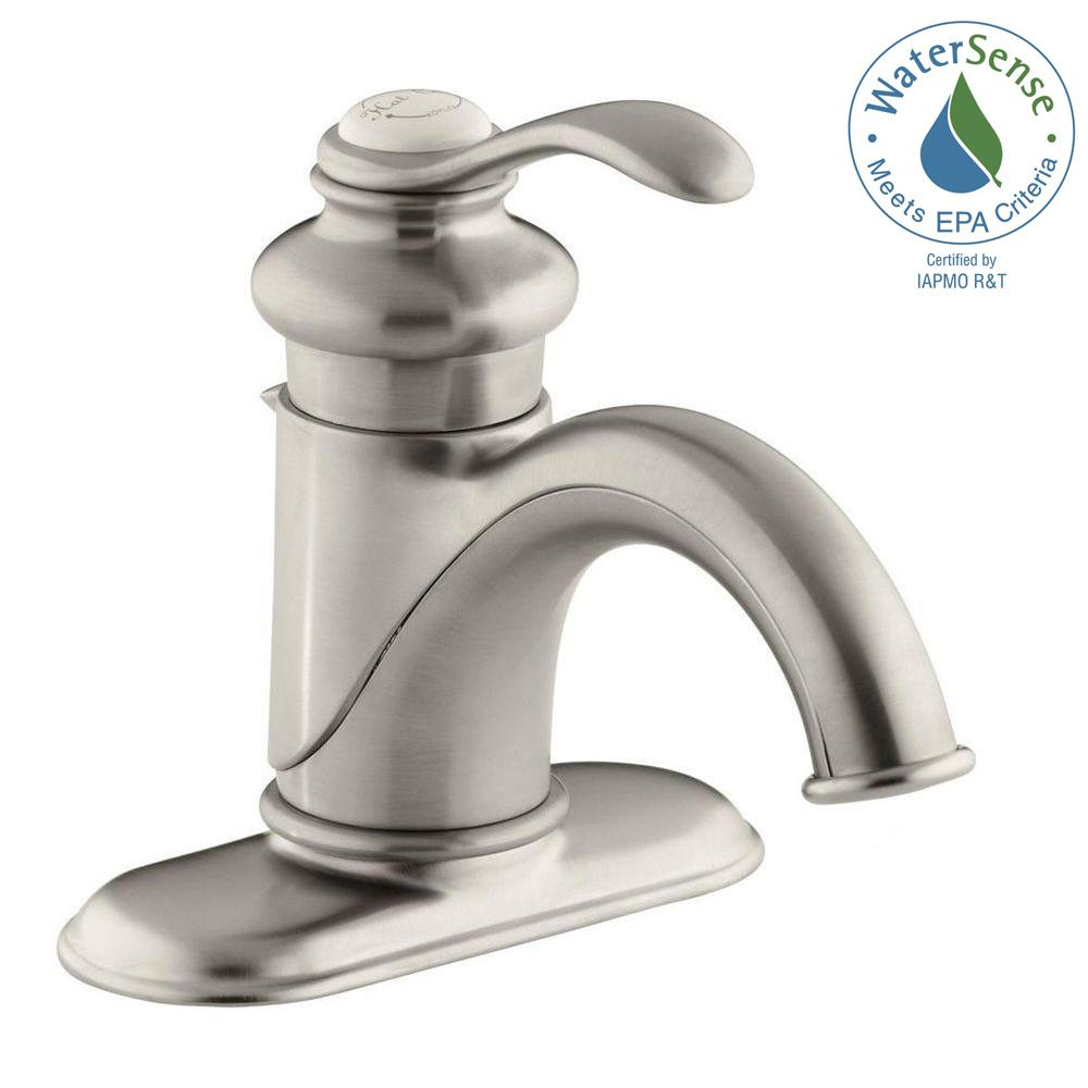 KOHLER Fairfax Single Hole Single Handle Low-Arc Water-Saving ...