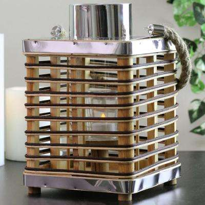 11.25 in. Rustic Chic Rattan Lantern Candle Holder