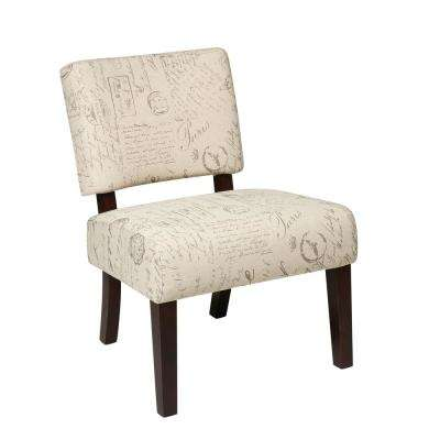 Jasmine Script Accent Chair